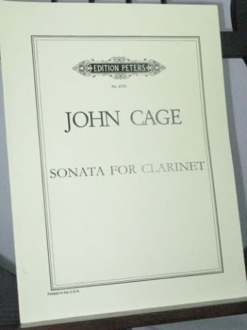 Cage J - Sonata for Clarinet Solo